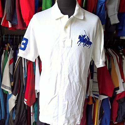 White Polo Shirt #3 Ralph Lauren Jersey Size Adult Xl