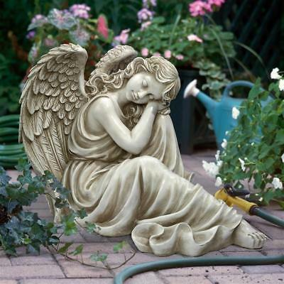 Heavenly Angel Statue Resting Peaceful Angelic Spiritual Sculpture NEW