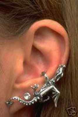 Sterling Silver DRAGON EAR CLIMBER by Marty Magic
