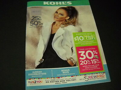 JENNIFER LOPEZ on cover of KOHL'S 2015 monthly catalog - mint condition
