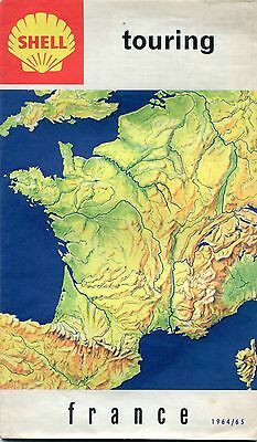 Cartoguide SHELL TOURING FRANCE 1964/65