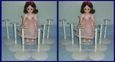 "White Doll Stands for 12/"" to 18/"" Fashion and Box of 12 Kaiser Doll Stand 2501"