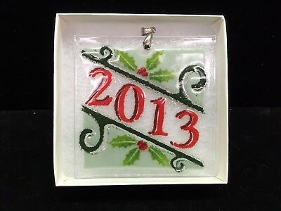 """Peggy Karr Fused Glass Ornament """"2013"""""""