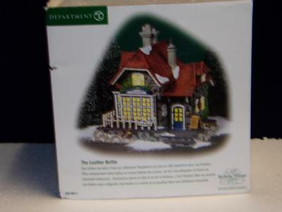 Dept 56 Dickens The Leather Bottle Abington Canal-Mib (R)