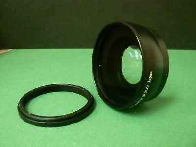 KAW BK 43mm 0.45X Wide-Angle Lens + Adapter Ring For Panasonic HDC SD90 TM90