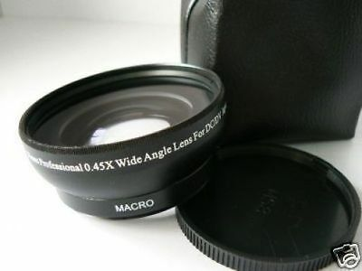 KW BK 58mm 0.45X Wide-Angle Lens w/Macro For Canon EOS 40D 60D 18-55mm/55-250mm