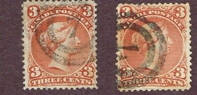 Canada Large Queens Fine 2-Ring Cancels  (Ocr29,2