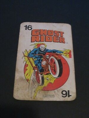 1978 Marvel Comics Super-Heroes Game Card Ghost Rider  Scarce Free Ship