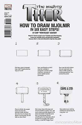 Mighty Thor #700 Zdarsky How To Draw Error Variant Legacy Marvel Death Pt 1!