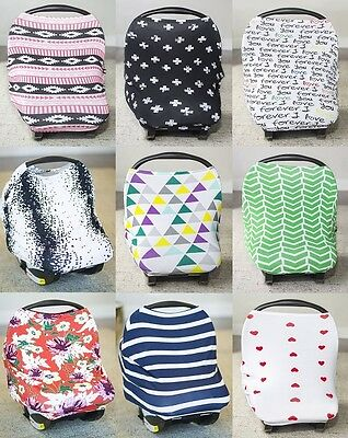 Carseat Canopy Jersey Stretch  Baby Car Seat Cover New