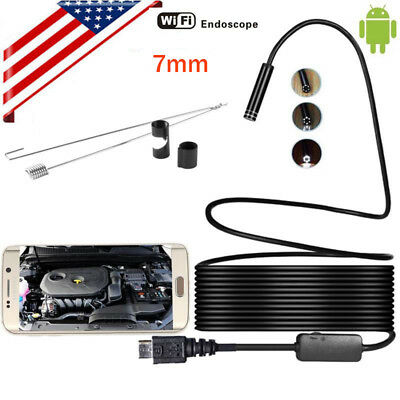 1M Android 6LED 7mm Lens Endoscope Waterproof Inspection Borescope Camera ES
