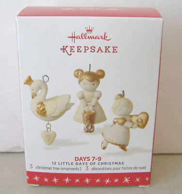 ~12 Little Days Of Christmas~2016 Hallmark Miniature Ornaments~Days 7-9~