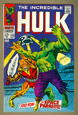 Incredible Hulk #103 Comic 1968 Silver Age Marvel Space Parasite Marie Severin