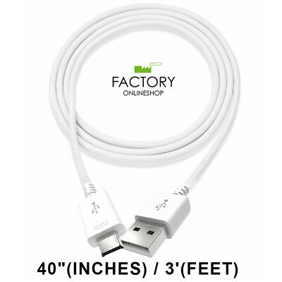 White 3Ft Micro Usb Charging Cable Sync Charger Data Cord For Samsung Android