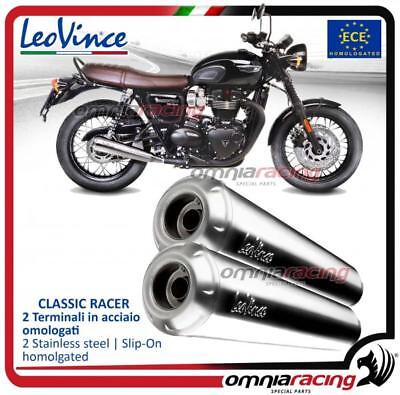 Remus Polished Stainless Custom Slip On Exhaust Triumph Bonneville