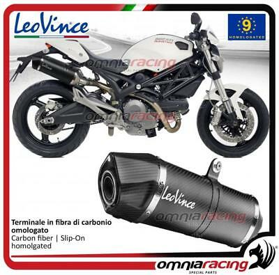 Leovince LV One 2 homologated carbon exhausts Ducati Monster 1100S 2009 09>13