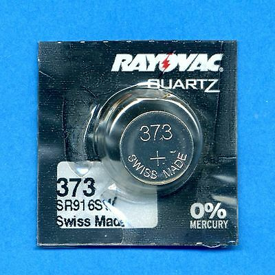2 x 373 SR916SW V373 D373 SR68 1.55V Silver Oxide Watch Cell Batteries Rayovac