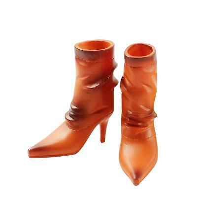1/6 Orange High Heeled Mid Boots Shoes for 12'' Hot Toys Phicen Kumik Figure