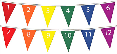 1-12 Numbers Mathematics Polyester Bunting - 5m with 12 Flags