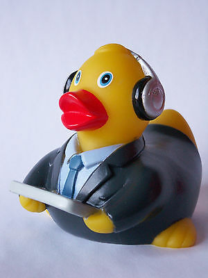 Badeente Quietscheente Technik * Ente mit Tablet * Business Quietscheente * X *