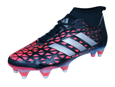 adidas Kakari Force SG Mens Rugby Boots - Black and Red