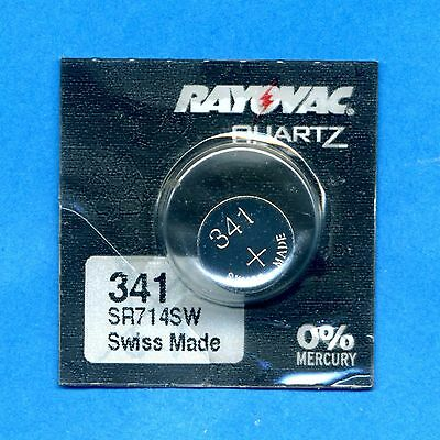 341 SR714SW V341 D341 1.55V Silver Oxide Watch Battery Cell Rayovac