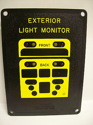 Doran 8 Lamp Warning Lights Monitor For Bus