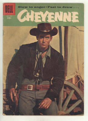 1956 CHEYENNE Dell 4-color #734 (#1) comic book with CLINT WALKER photo cover