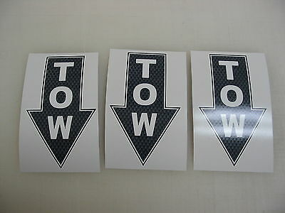 3 TOW BLUE Decal Stickers to Fit Airplane Race Boat Drag Car Street Racer Drift