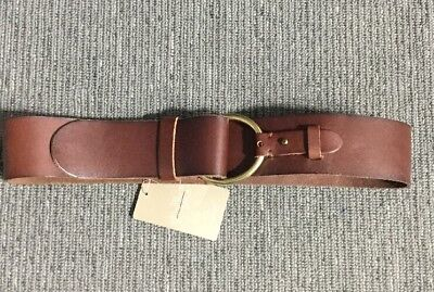 NWT Anthropologie Brown Leather Roundabout Corset Belt
