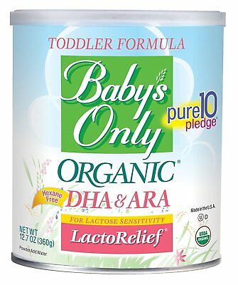 Babys Only Organic Toddler Formula LactoRelief Lactose Free 2/12.7 Powder Cans