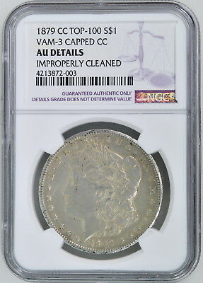 1879-CC VAM 3 Capped Morgan Dollar Graded NGC AU Details Carson City