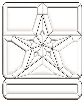 Stained Glass Supplies - United States Army Emblem Bevel Cluster EC280