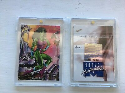 2016 Marvel Masterpieces Joe Jusko Autograph Buyback Gold /15 She Hulk Auto 1992