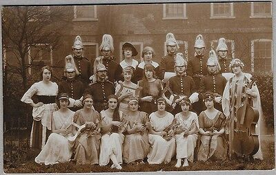 Edwardian PC -Young ladies dressed in lovely costumes including cavalry soldiers