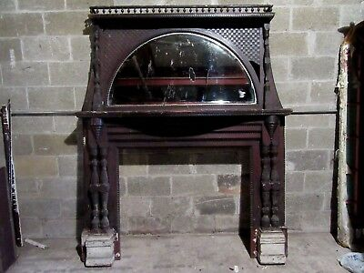 "Tall Unique Victorian Fireplace Mantel ~ 43"" Opening ~ Architectural Salvage"