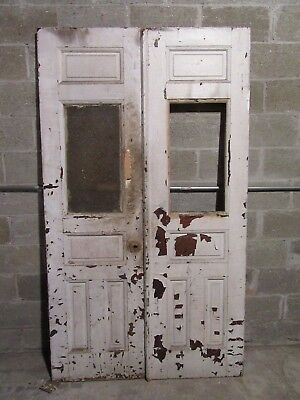 ~ ANTIQUE DOUBLE ENTRANCE FRENCH DOORS  ~ 48 x 83 ~  ARCHITECTURAL SALVAGE