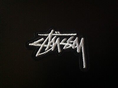 "2"" STUSSY INTERNATIONAL SCRIPT LOGO Embroidered Iron On/Sew On Patch USA SELLER"