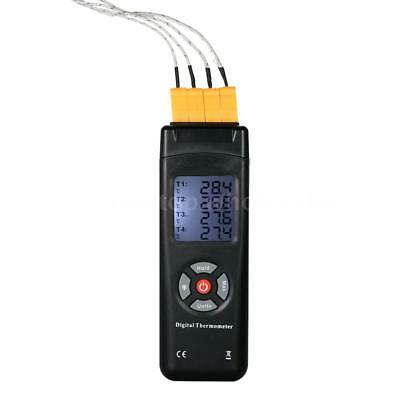 4-Channel K-Type Digital LCD Thermometer Thermocouple Sensor -50°C~1350°C Q8W9