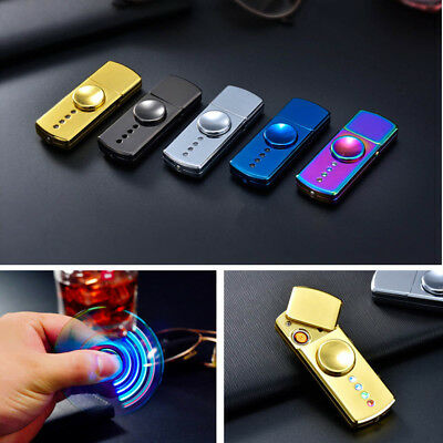 Fidget Spinner Cigarette Lighter LED Flash Light USB Charging Box BJC LED Light
