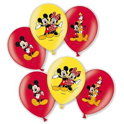 Micky Maus - Party Geburtstag Ballons Luftballons Mickey Mouse 6 Stück