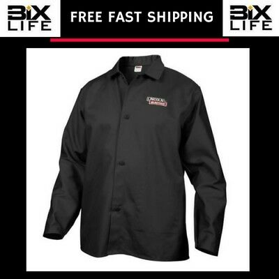 Lincoln Electric Black X-Large Flame-Resistant Cloth Welding Jacket Brand New