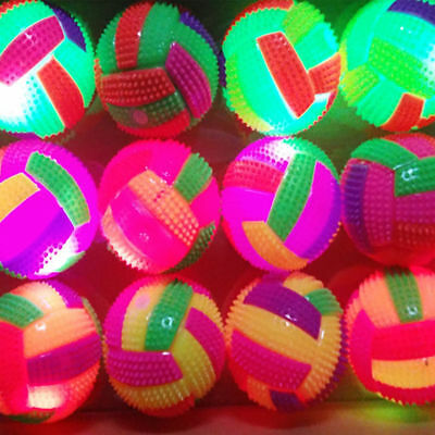 LED Color Changing Flashing Light Up Volleyball Bouncing Hedgehog Ball Pet Toy