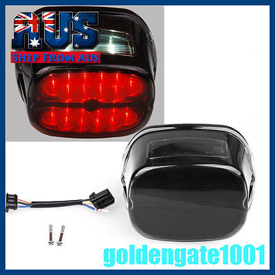 AU Smoke Lens TailLight Brake LED Plate License For Harley Touring Dyna FLHRC