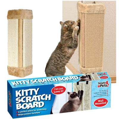 Pet Cat Kitten Corner Sisal Wall Scratcher Cats Hanging Scratching Post Board