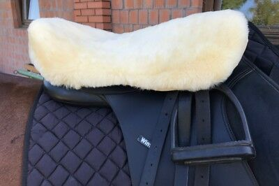 Genuine sheepskin English style horse saddle cover - Super soft wool - L size
