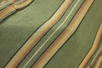 Vintage French daybed day bed cover green ticking striped cotton c1930
