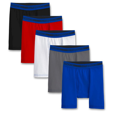Fruit of the Loom Boy's 5-Pack Boxer Briefs - Assorted Medium 10/12