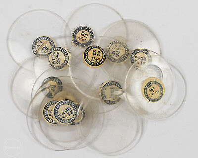 Group of 16 Antique Glass V.T.F. Pocket Watch Crystals out of an Estate!