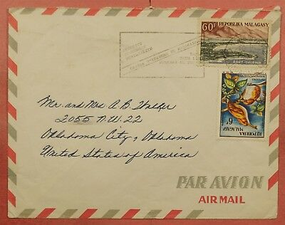 1960's Madagascar Multi Franked Airmail Cover To Usa